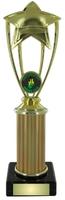 25cm Gold Star Trophy on Black Marble (V202)