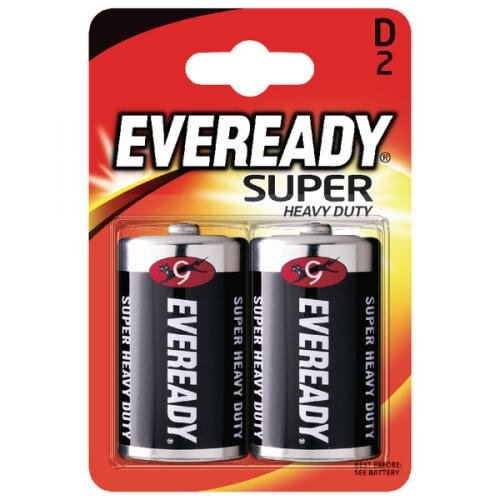 EVEREADY SUPER HEAVY DUTY BATTERY D CARD 2