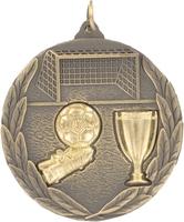 50mm Gold Relief Soccer Medal