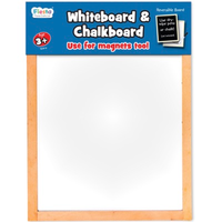 Children's double-sided whiteboard and chalkboard