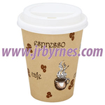 CASE Cups 8oz Single Wall Beige WHat x1000
