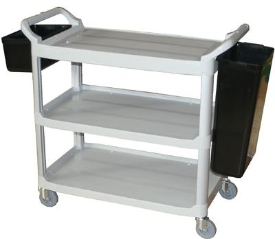 Plastic Utility Cart 3 Shelf with Wheels