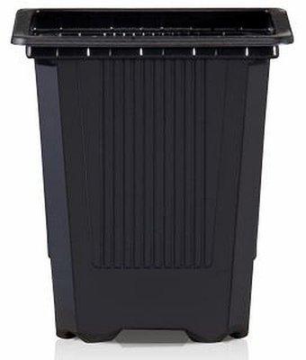 Teku VQF Square Pot Thermoformed 7cm x 7cm x 8cm - Black