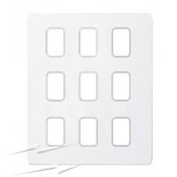 Schneider Ultimate Screwless Grid Painted White 9 Gang Ultimate Screwless|LV0701.1441