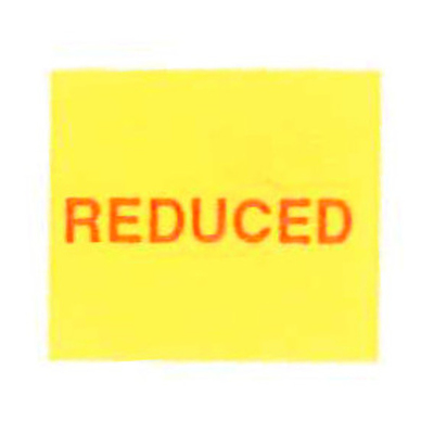 LYNX SATO PB216 18x16mm Labels - 'Reduced' Yellow Removable (Roll 1000)