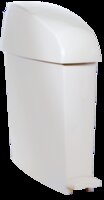 Sanitary Receptacle With Pedal 12L White