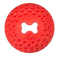 "Rogz Gumz Medium Treat Ball - Red 2½"" x 1"