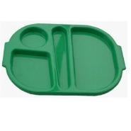 Meal Tray Green Polycarbonate 280 x 230mm