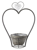 Welcome Planter Heart Stand Medium