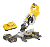 DEWALT DCS777T2 54V XR Mitre Saw Flexvolt 216mm c/w box, charger, 2 x DCB546 6.0ah Li-ion FLEXVOLT BATTERIES (DeWALT Special Discount Price)