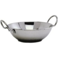 Balti Dish with Handles Stainless Steel 15cm