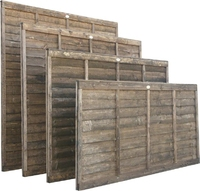 1.65m Lap Panel Dip Treated Brown