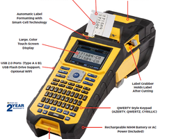 The new Brady BMP61 label printer is designed for quick and efficient identification of cables and components.