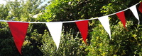 Bunting Long Life Diamond Red & White 50m