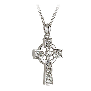 RHODIUM CRYSTAL CROSS