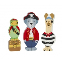Puzzle Mini Set Animal Pirate.