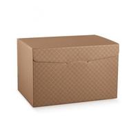 BOX  1 PCE BROWN EMB. 400x280x250mm DISC