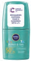 Nivea Sun Protect And Care Kids Green Roll-On Spf50 50ml