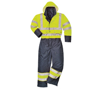 PORTWEST S485 Waterproof Hi-Visibility Lined Winter Coverall