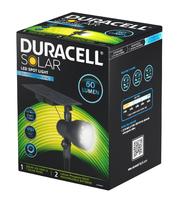 DURACELL SOLAR SPOT LIGHT 6HRS.60LM / 10HRS.48LM (BLACK FINISH)