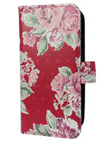 FOLIO1277 Samsung S7 Pink Flowers Folio Case