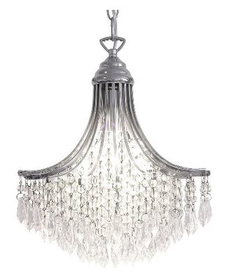 Suri 1 Light Pendant, Crystal Polished Chrome | LV1802.0101