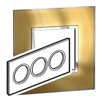 Arteor (British Standard) Plate 6 Module Round Gold Brass | LV0501.2803