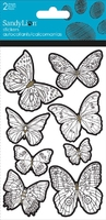 Color Me Butterfly Foil Sticker. (Priced in singles, order in multiples of 6)