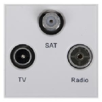 Triax TV / Radio /Sat Insert - White (304262)
