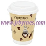 CASE Cup 12oz Single Wall Beige WHat x1000