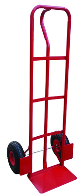 Red P-Handle Hand Truck Unassembled