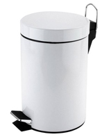 Pedal Bin White Coated 3 Litre 170mm x 268mm