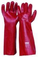 Single Dipped 45cm PVC Glove Red 45cm