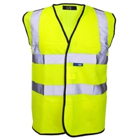 Hi-Visibility Vest Yellow Binding, Velcro, Yellow