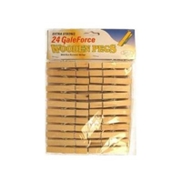 GALEFORCE WOODEN CLOTHES PEGS PAK 24