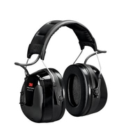 3M PELTOR WorkTunes Pro AM/FM Radio Headset, Black, Headband, 32 dB