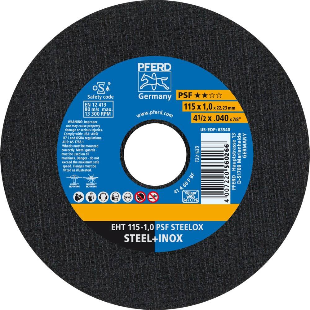 Pferd Cutting Disc 115X1 A60 PSF STEELOX (order qty x25)