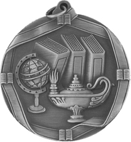 60mm Antique Silver Knowledge Medal