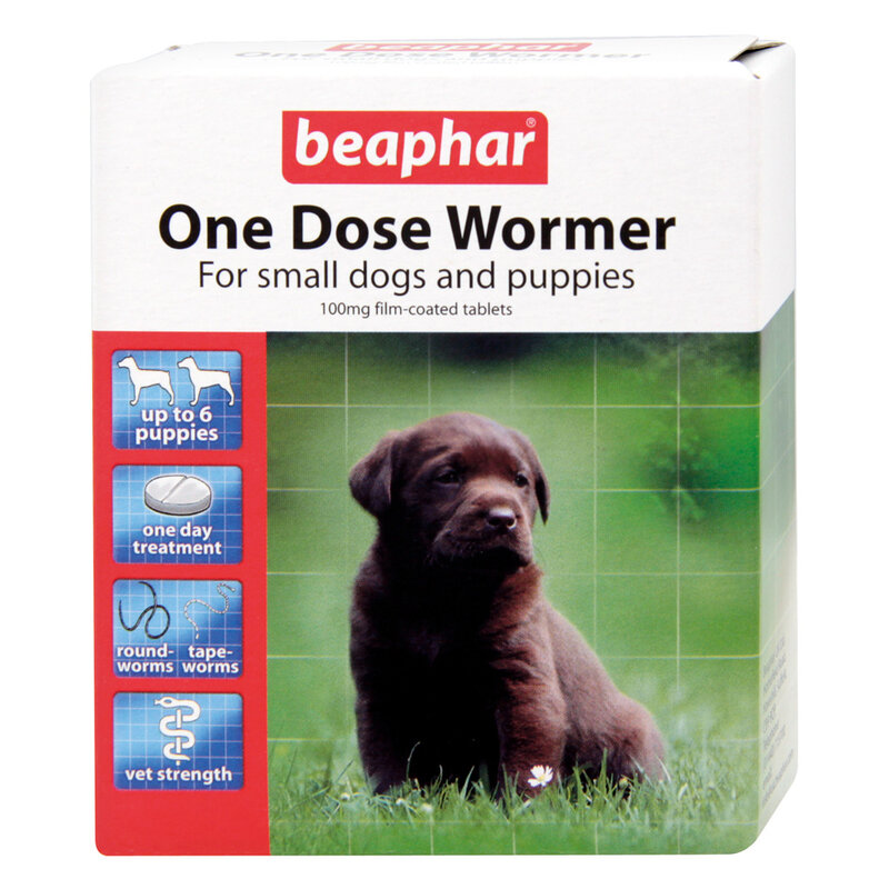 Beaphar Canac One Dose Wormer Small Dog & Puppy x 6