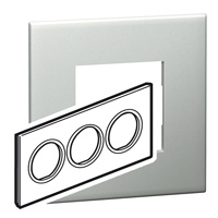 Arteor (British Standard) Plate 6 Module Round Pearl Alu | LV0501.0128