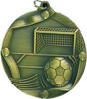 60mm Soccer Medallion (Antique Gold)