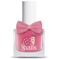 Pink kids-safe nail polish that washes off with soap and water.