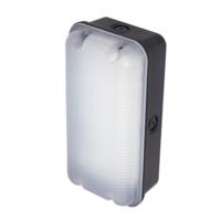ANSELL Sleek Polycarbonate 4000K LED Bulkhead c/w MW Sensor