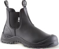 No8 Marsden Anti Penetrate Midsole Slip On Safety Boot & Scuff Cap Black