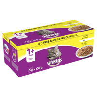 Whiskas Pouches - 1+ Poultry Selection Jelly 100g 40 for 36 Pk