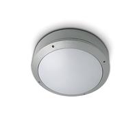 Grey Plafo Round 3 x E27  IP44 | LV1202.0200