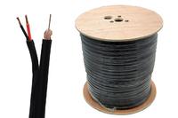 Labgear 200m Black RG59 + 2 Core Power Cable