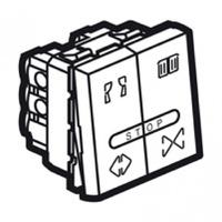 Arteor Double Push For Curtain 2 Module Square - Magnesium  | LV0501.2617