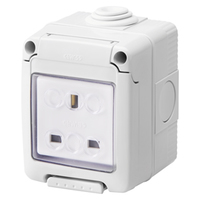 Gewiss 13A 1G Waterproof Socket IP55
