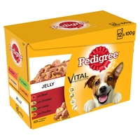 Pedigree Pouches Adult Jelly Favourites 100g 12-pack x 4